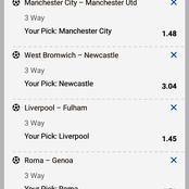 Five Multibets Matches with Classic Odds to place & Earn Huge Returns This Sunday