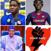 'Wahala For Who No Get Visa'-See What Oshoala Said After Buhari's Speech That Got Fans Talking
