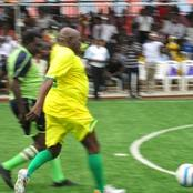 Photos of Obasanjo, Atiku and Goodluck Jonathan Playing Football, Exercising