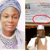 Fatima Atiku Abubakar Reacts To Revalidation Of APC Membership Card Reports.