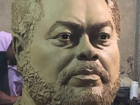 The sculpture of the late Jerry John Rawlings, See how extraordinary it is