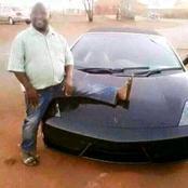 Boyfriend takes pictures next to a car to brag on social media