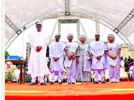 Checkout Lovely Picture Of Governor Sanwo-Olu And His Family.