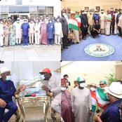 EDO: Gov. Obaseki Leads National And State Party Leaders on a Thank You Visit to Gov. Wike in P.H