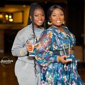 Stacey Amoateng and Calista twinning in new photo as both win awards at an event
