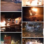 Désobéissance civile hier nuit à yopougon, des véhicules brulés : voici toutes les images et vidéos