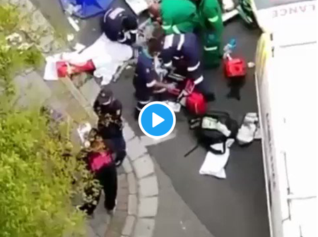 Tears: The Moment People Were Trying to Save Nillie After She Jumped Off Hotel Building (Video)