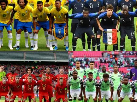 Latest FIFA world rankings for national football teams - Nigeria moves up the ranking