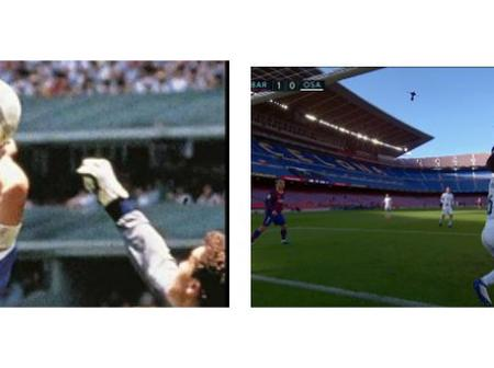 Reactions as One Barcelona Player Almost Recreated The Maradona's Hand Of God goal against Osasuna