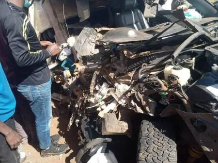 Land Cruiser Vs Lorry Crush Along Limuru Manguo Road, One Rushed to Hospital