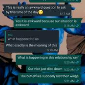 Reactions As Man Shares A Leaked Relationship Chat On Social Media, Read What Happened (Details)