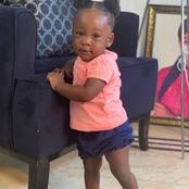 Actress Mercy Johnson shares photo of her little daughter as she says her first word
