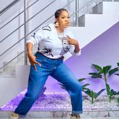 Mercy Johnson, others react as Toyin Abraham shares photo of herself wearing a funny looking outfit