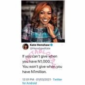 Men Actress Kate Henshaw advised women against that got people talking