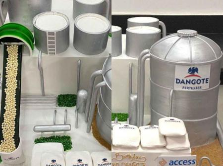Check Out The Cake Access Bank Made For Dangote On His Birthday That Sparked Reaction (Photos)