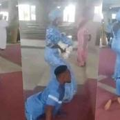Read What People Said As Physically Challenged Man Danced With His Wife For Their Child Dedication