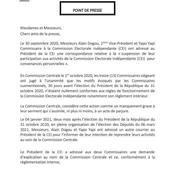 CEI : Alain Gogou et Yapo Yapi réintégrés mais écopent d'une mise en garde