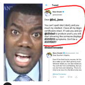See How Reno Omokri Blast A Man Who Called Him An
