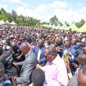 The contrast of church services attended by president Uhuru Kenyatta in Nyeri and Dp Ruto in Mumias