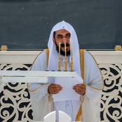 Sheikh Abdullah leads Jumu'ah Prayers in Mecca (See photos)