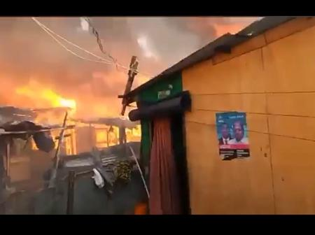 Sad; A Section Of Tema Hit With Fierce Fire Outbreak