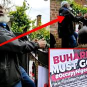 [VIDEO] A Nigerian In Uk Tries To Climb Abuja House Gate To Ask President Buhari To Leave
