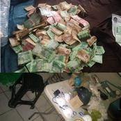 A drug lab was found with drugs worth R400 000 and a safe containing R65 673.