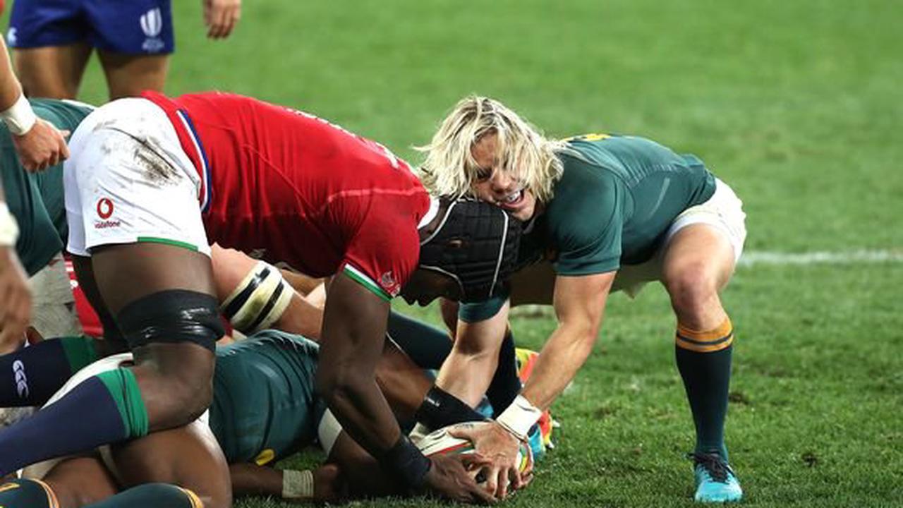 Fans fume after Faf De Klerk try allowed but Lions fight back to win first  test - Opera News