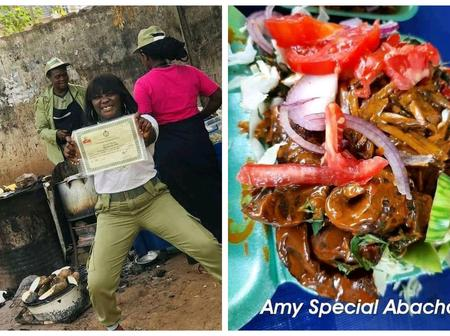 Look At What This Abacha Seller Promised To Do With Her CV After Graduating From The University