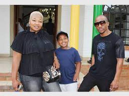 Pictures: meet Mduduzi Mabaso, his wife Fatima Mabaso and their children, check out family snaps