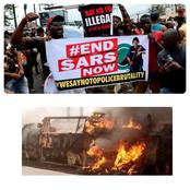 EndSARS : See What Protesters Have Done Again As Teenager Was Crushed To Death