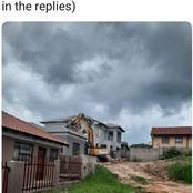 A Man Demolished A House That He Had Built For His Girlfriend Afte The Girlfriend Had Dumped Him