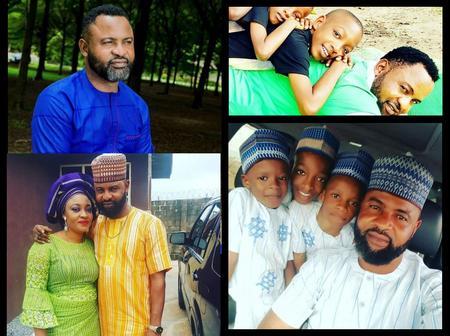 Meet The Handsome Yoruba Actor Akin Olaiya, His Beautiful Wife And Children
