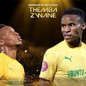 Themba Zwane wins midfielder of the season award