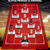 Arsenal predicted XI to face Slavia Prague