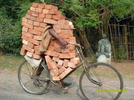 21 Very Funny Pictures Of Overloaded Bicycles and Bikes That Will Make You Look Twice.