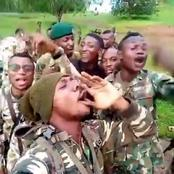 Nigerian soldiers spark reactions with their singing aloud
