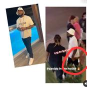 Davido  Caught On Camera Holding A Girl
