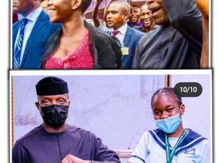 Remember Chinaza who beat security to grab Osinbajo's hands in market, See What She Just Achieved