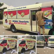 Wikki Tourist FC Customizes New Buses With Governor Bala's Name [Photos]