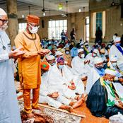 Photos: Gov. Akeredolu, His Deputy   ,Aiyedatiwa At Owo Central Mosque For Special Thanksgiving