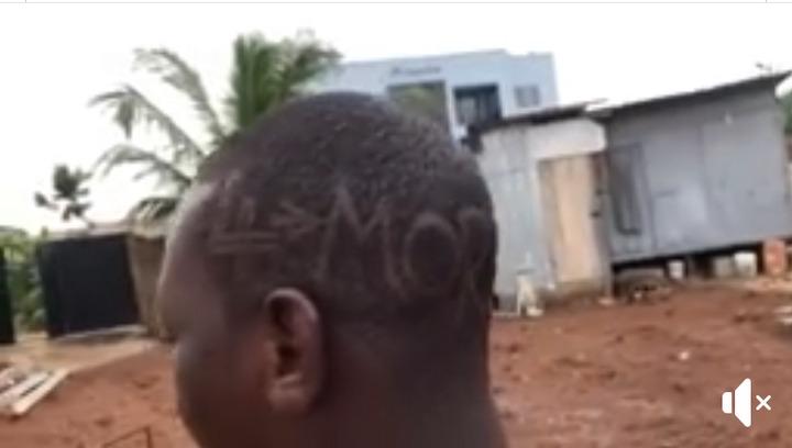 "8cf1888365c83ac2fc1a3aa1de750c11?quality=uhq&resize=720 - Die-hard Fan of Nana Addo Goes For ""4 More For Nana"" Haircut (Photos)"
