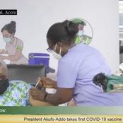 President Nana Akuffo Addo takes the first Vaccine injection and Ghanaians cannot keep quiet
