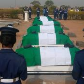PHOTOS: Victims of Air Force Plane Crash Buried In Abuja.