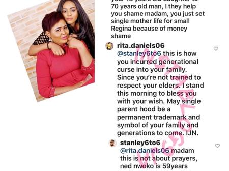 Regina Daniels Mother Replied Fan who Accused Her of Giving Her Daughter to a 70 Years Old Man