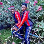 Couple Goals Set As MCA Tricky And Akothee's Daughter Rue Baby Step Out In Matching Outfits.
