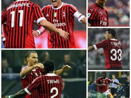 Throwback Photos Of Ibrahimovic, Thiago Silva And Taye Taiwo As Teammates In AC Milan