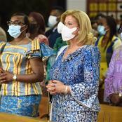 Messe pour la paix et le repos de l'âme des victimes de la Covid-19 : Dominique Ouattara prie