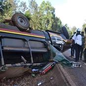 Tears After a Police Officer Dies In Deadly Road Accident In Kiambu, Several Injured