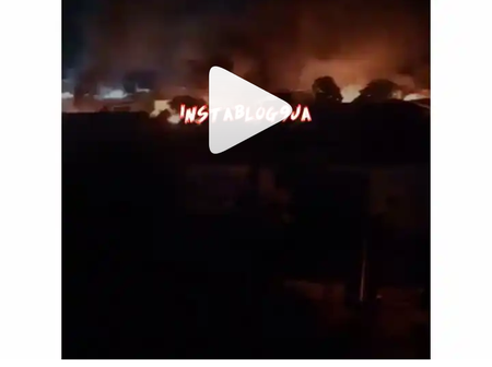 Inmates In Imo reportedly freed as unknown hoodlums set prison ablaze (See Video)